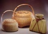 Bamboo basket - ANA 機内誌で読んだ、宮崎照葉樹林で生まれた道具 日之影竹細工資料館より廣島一夫氏による竹細工