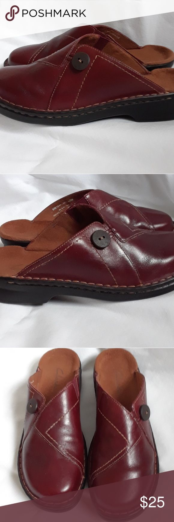 Clark's Mule/Clog NWOT New without tag. Leather upper, man-made sole. Almost wine brown in color. Clarks Shoes Mules & Clogs