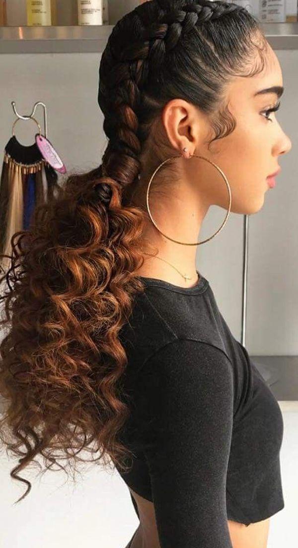 10 peinados recogidos para cabello chino que evitarán el frizz en 2021 | Peinados para pelo crespo, Trenzas todo el cabello, Peinados para cabello rizado