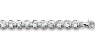 Huiscollectie 1307328 Zilveren zirkonia armband