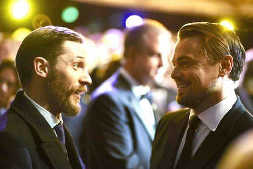 Tom Hardy and Leonardo DiCaprio - literally two of the most beautiful people ever.