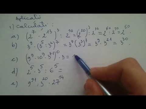 Calcule cu puteri | Operatii cu puteri - YouTube