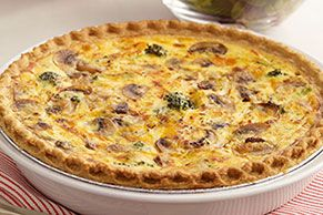You'll love our easy-to-make quiche. It's a cup of broccoli, a cup of cheddar—and a secret tangy ingredient—all baked into a deep-dish pie crust.