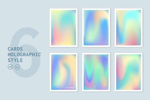Cards holographic backgrounds set. Holographic Backgrounds. $7.00