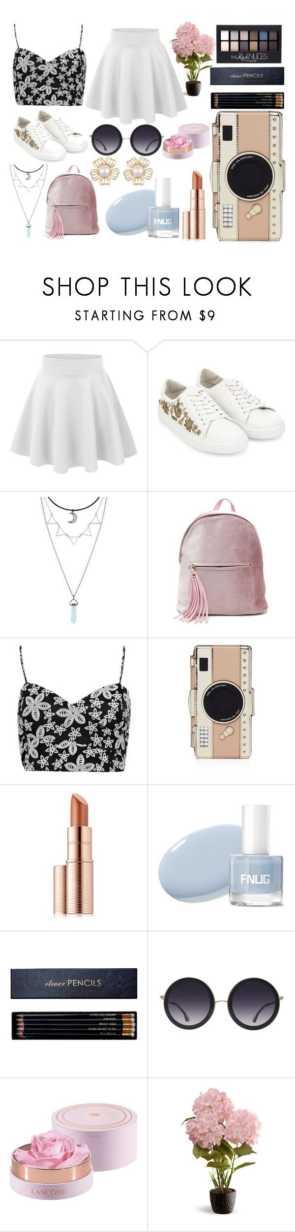 """""""068."""" by sivanlarry18 ❤ liked on Polyvore featuring Monsoon, Boohoo, Kate Spade, Estée Lauder, Maybelline, Sloane Stationery, Alice + Olivia, Lancôme and National Tree Company"""