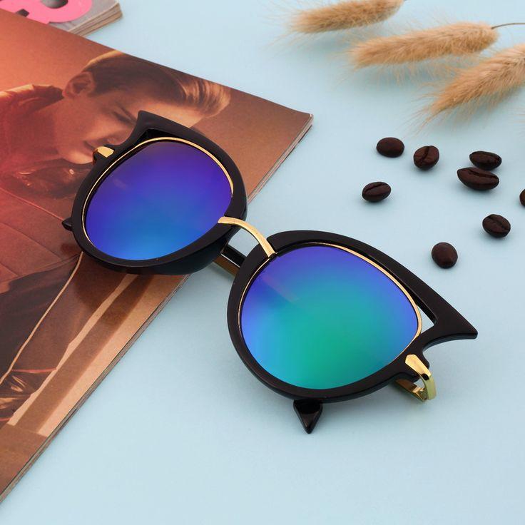 Moda Retro Armação de Metal Olho de Gato Sexy Óculos De Sol para o Revestimento Das Mulheres Da Marca do vintage óculos de sol feminino oculos de grau femininos Loja Online | aliexpress móvel
