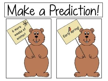FREE Groundhog Day class graph and response sheet   - Pinned by @PediaStaff – Please Visit http://ht.ly/63sNt for all our pediatric therapy pins