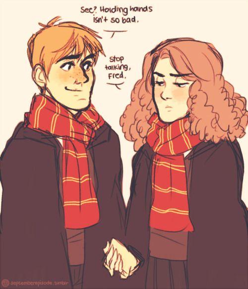 Fred Weasley And Hermione Granger Fan Art In case you wer...