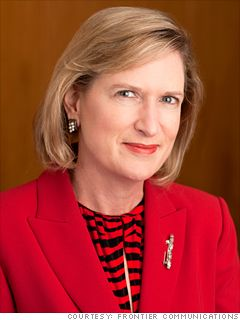 35. Maggie Wilderotter  CEO  Frontier Communications  2011 rank: 37  Age: 57  She's not just a little sister of Campbell Soup CEO Denise Morrison (No. 18). Wilderotter is a four-time MPW lister who runs a 5.2-billion-in-revenue telecom company. Though tiny compared with AT and Verizon, Frontier trades in line with the big boys.