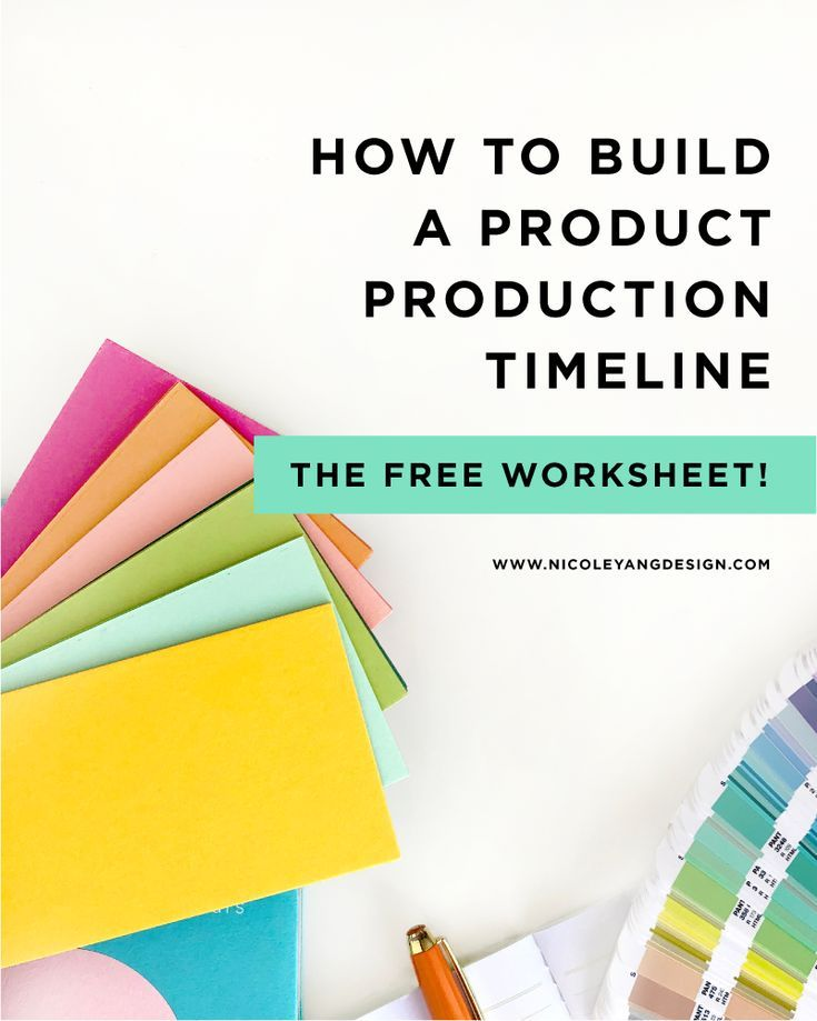 How To Build A Product Production Timeline For Your E Commerce Business Product Printing Schedule Free Business Checklist Success Business E Commerce Business