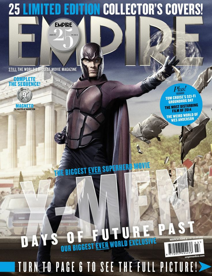Limited Edition Michael Fassbender Magneto EMPIRE cover March 2014