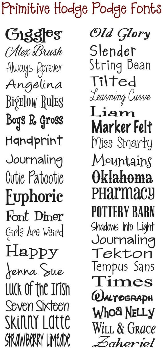 Silhouette fonts by Howard Bolton on Cute fonts Country