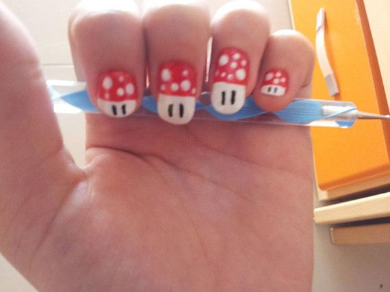 15 best images about mario bross nails on pinterest nail. Black Bedroom Furniture Sets. Home Design Ideas