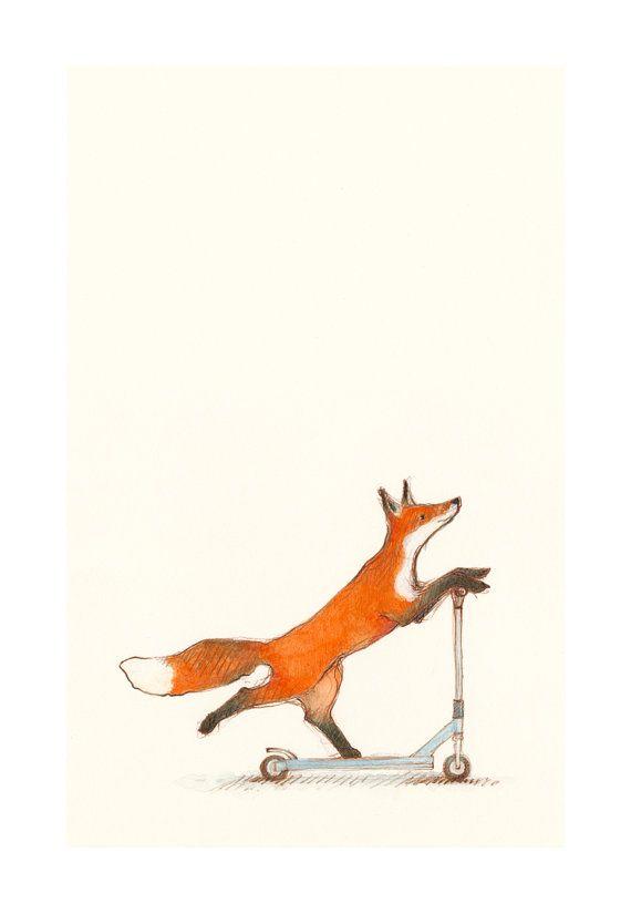 Sadie ~ Scooting Fox