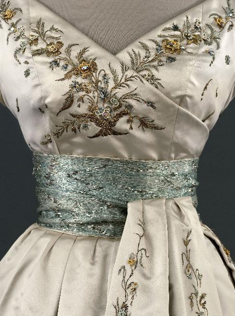 Christian Dior 'Soiree Fleury' dress detail, 1955.