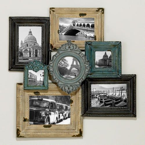 What an awesome frame collage........love the rustic look and the earthy colors!