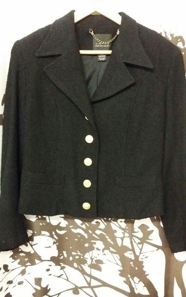 050d47b4f8 Limited London Paris New York 90% Virgin Wool Black Jacket  fashion   clothing  shoes  accessories  womensclothing  coatsjacketsvests (ebay link)