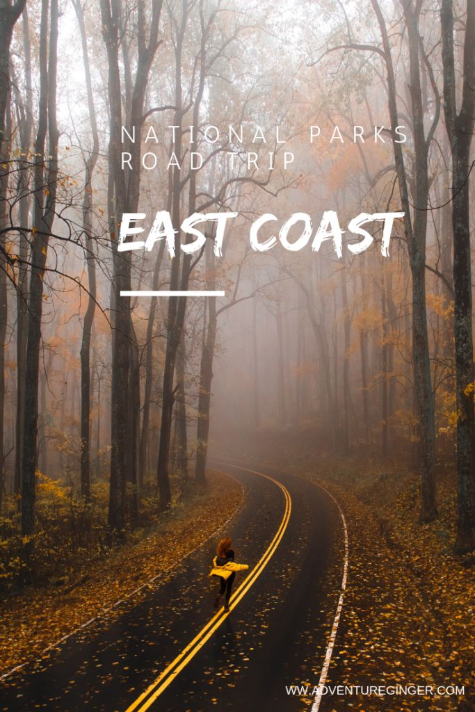 Viagem por estrada dos Parques Nacionais da Costa Leste: Itinerário Completo   – Eastcoast US