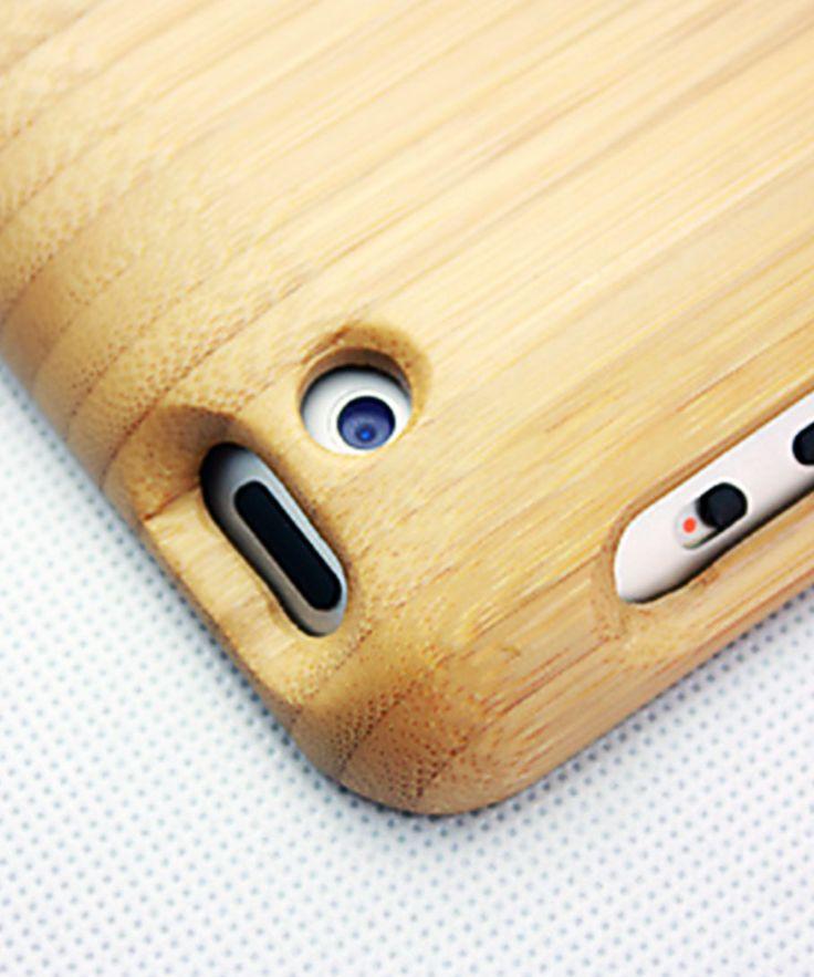 Bamboo iPad Case with Velvet Lining