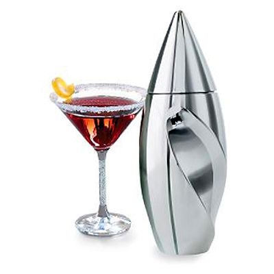 Shake It Up - Nambe Twist Cocktail Shaker  (Update:  YAY!  Bought it today 25% off at Macy's Shop for a Cause event!)