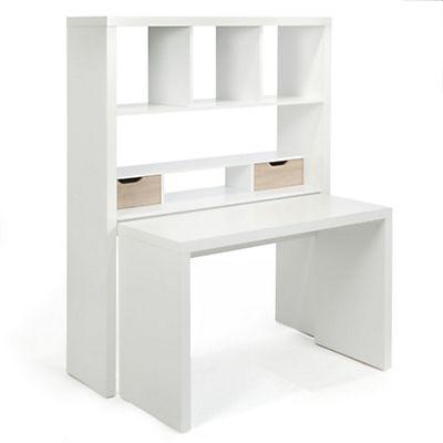 Twisty bureau Bureau modulable avec étagères et tiroirs