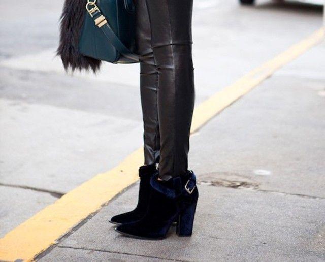 Met fluwelen schoenen