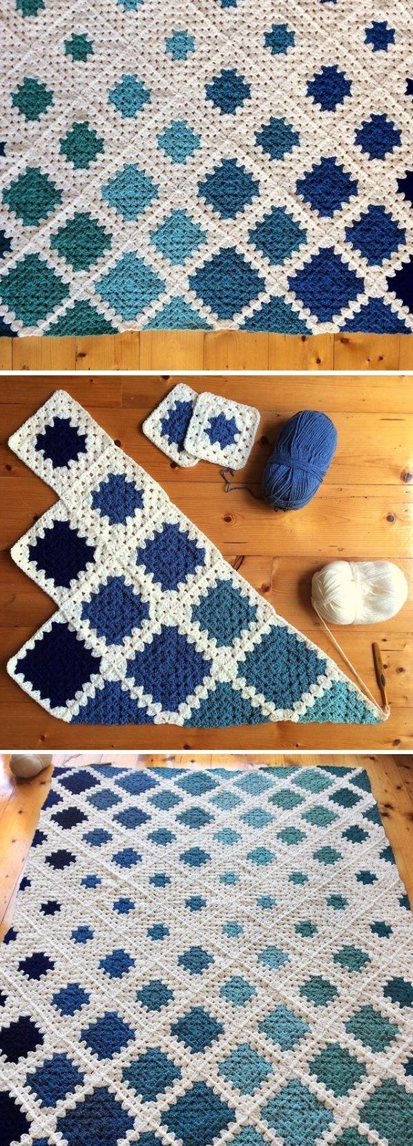 Square Motif Blanket Tutorial