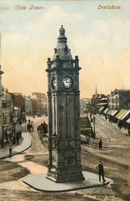 London, Lewisham, Clock Tower 1900's this was and for all I know still in the same place into the 21st century