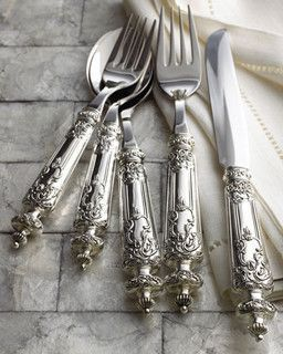 Padova Flatware - traditional - flatware -  - by Horchow #SterlingSilverTableware