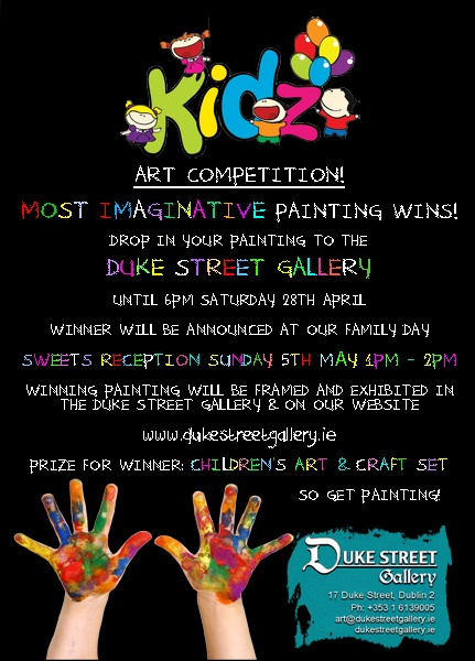 Kids art competition through April 28th! #DukeStreetGallery #kids #art @TheGatheringIreland