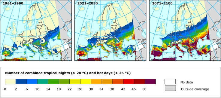 Report on Climate change, impacts & vulnerability in Europe, 2012, published by European Environment Agency
