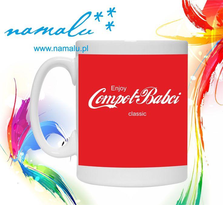 http://namalu.pl/kubki/317-kubek-compot-babci.html  Kubek Mug funny śmieszny zabawny prezent GIFT herbata kawa cafe coffee tea Compot Babci Coca Cola kubki z nadrukiem na zamówienie
