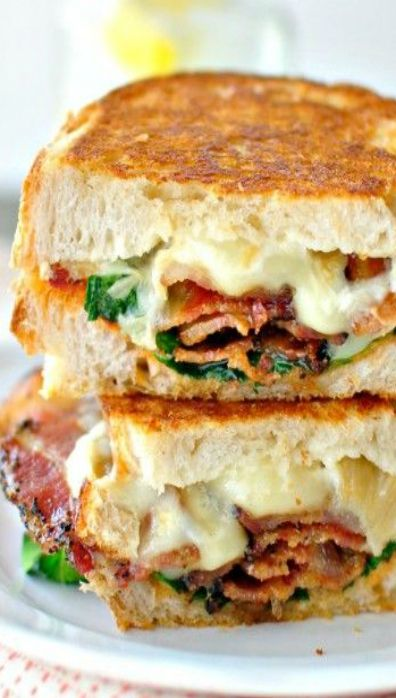 Fancy BLT Grilled Cheese Sandwiches