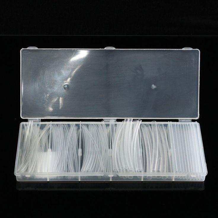 150 Pcs Transparent Polyoléfine 2:1 Gaine Thermorétractable Tubes Assortiment Fil pour Wrap Gaines Électriques