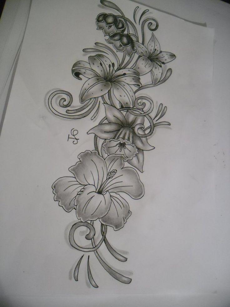 27 besten tattoo bilder auf pinterest t towierungen for Hibiscus flower tattoo sketches