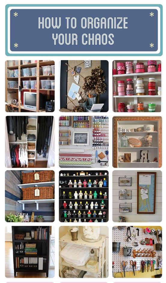 Appealing ways to organize your chaos! Oh, I need this. Anyone want to come help?