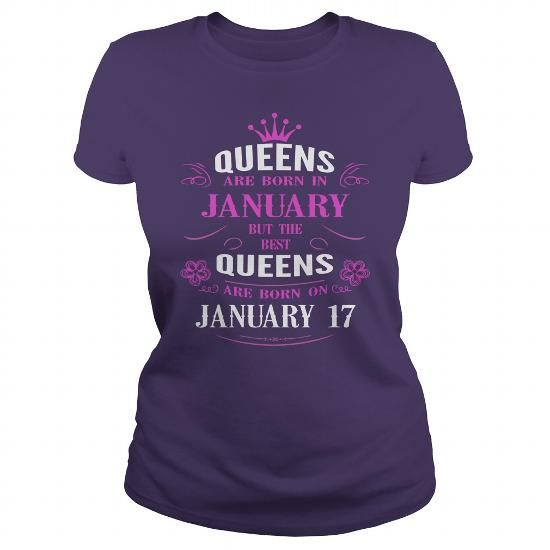 January 17 birthday Queens Tshirt, The best Queens are Born January 17 shirts, January 17 birthday T-shirt, Birthday January 17 T Shirt, Queen Born January 17 Birthday Hoodie Vneck LIMITED TIME ONLY. ORDER NOW if you like, Item Not Sold Anywhere Else. Amazing for you or gift for your family members and your friends. Thank you! #queens #january