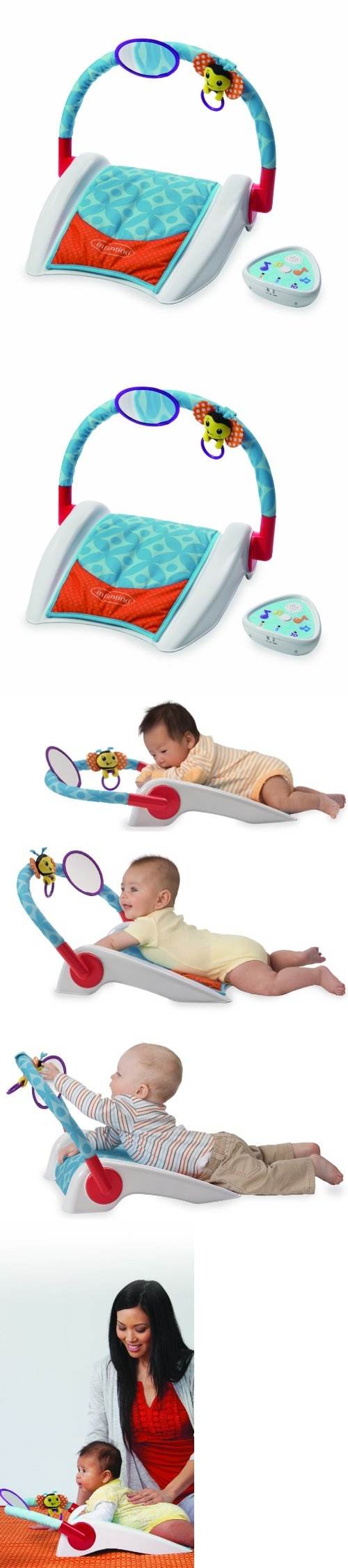 Infantino Right Angle Tummy Triangle - Tackle tummy time from a whole angle! Developed by pediatric occupational therapists, this ingenious tummy time support makes building core strength more comfortable and fun. The inclined surface prop... - Baby Gyms & Playmats - Baby - $19.99