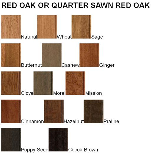 Quarter-Sawn Red Oak Wood Cabinets