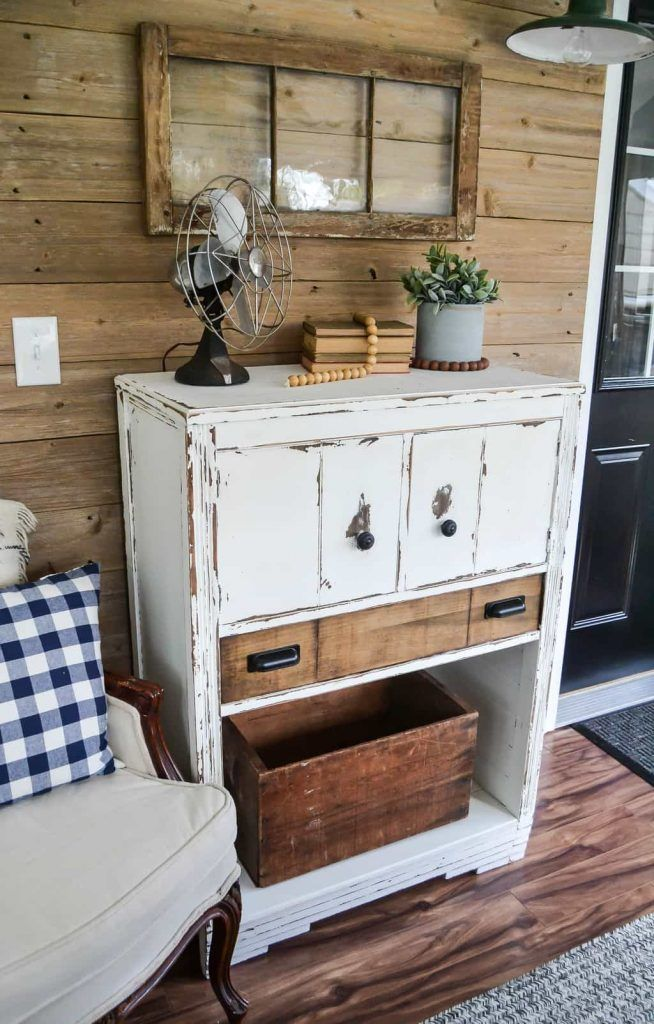Dresser Makeover With Ship Lap - Don't get rid of your broken dresser! Check out this Dresser Makeover with Ship Lap for a unique way to breath new life to your old dresser.