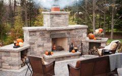 Simple Outdoor Fireplace Outdoor Fireplaces Areas With Wicker Furniture Design Ideas