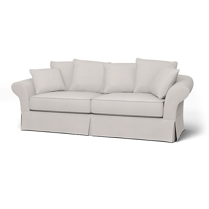 Backamo Sofa Covers 3 Seater Regular Fit Using The Fabric Simply Cotton Silver Grey