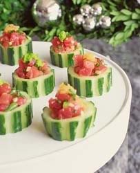 Cute dip idea... love the cucumber cups and the other things on this food blog