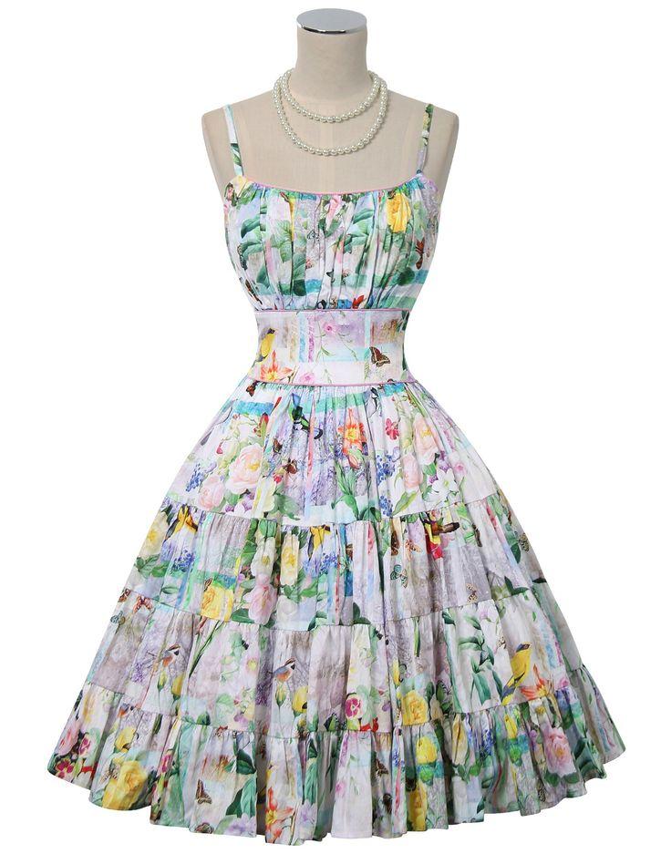 Pretty Birdie Swing Dress
