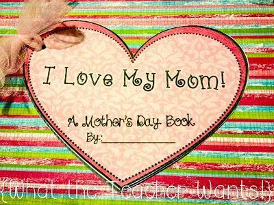Mother's Day writing project and gift idea. A cute and inexpensive way for students to celebrate their moms!