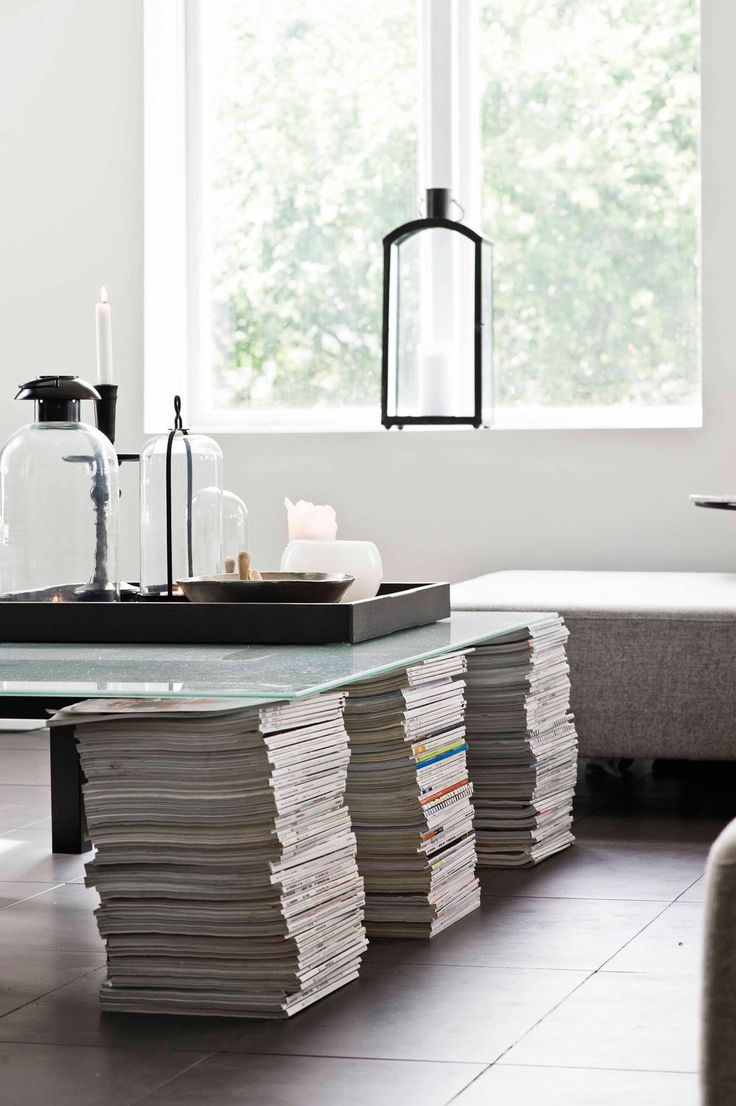 create your own table and use the whole collection of magazines