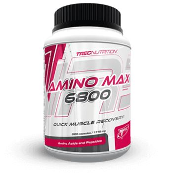 AMINOMAX 6800: Ultra-czyste aminokwasy serwatkowe, wzmocnione L-Glutaminą, Tauryną i witaminami   Szybka regeneracja potreningowa Ultra-czyste aminokwasy w kapsułkach Wzmocnione L-Glutaminą, Tauryną i witaminami