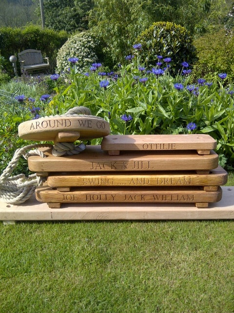 If some suitable trees are close by....(Chelsea Flower Show stack of rope swings)