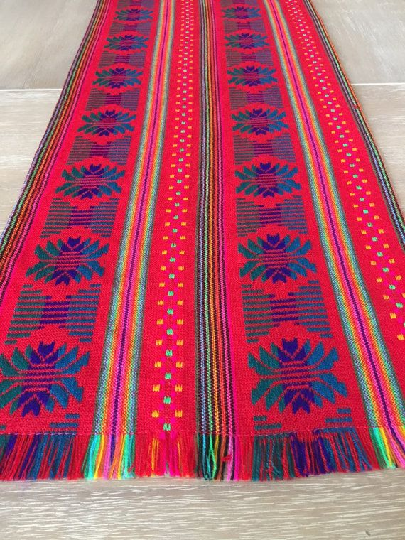 Mexican Table Runner, Custom Placemats, Woven Napkins Or Tablecloth. Polka  Dot Red,