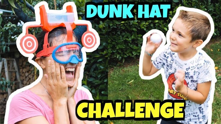 DUNK HAT CHALLENGE: ci sfidiamo al tiro al bersaglio bagnato! #acqua  #dunat #toys #giochi